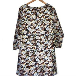 Collective Concepts Dresses - Multi Coloured Snakeskin Long Sleeve Shift Dress